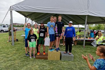 12a-Relay podium